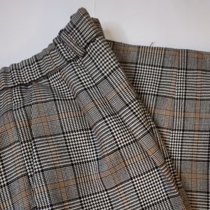 Pendleton Brown & Black Plaid fully lined size 16